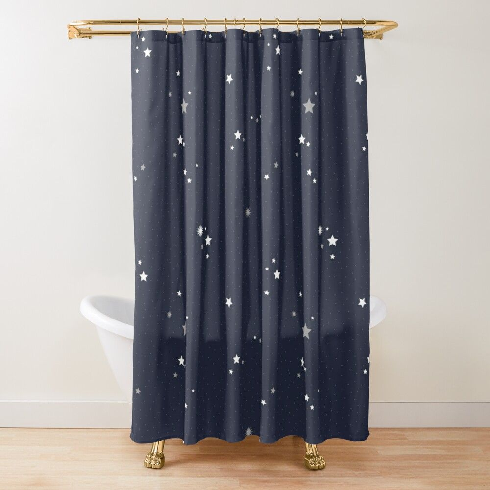 Starry Night Sky Shower Curtain By Latheandquill In 2020 Starry
