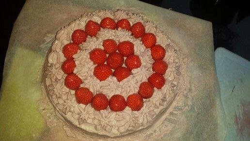 Verjaardagstaart aardbeien