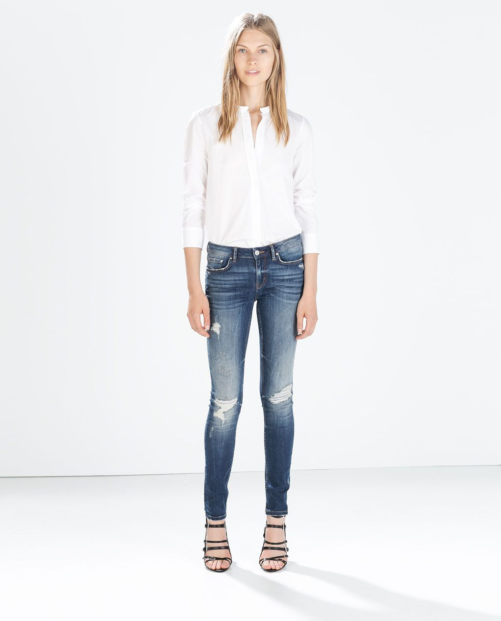 Destroyed jeans damen zara