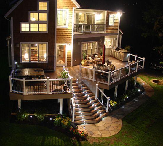Custom Composite Deck Master Bedroom Level Deck Overlooks