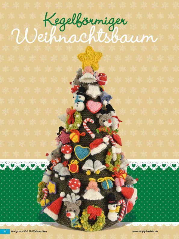 Häkelanleitung Kegelförmiger Weihnachtsbaum Fantastische Häkelideen ...