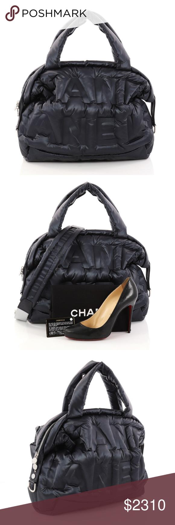 785299e0ca94 Chanel Logo Embossed Nylon Doudoune Backpack- Fenix Toulouse Handball