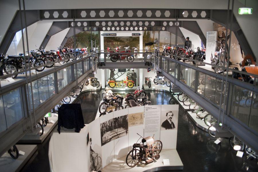 Innenansicht des Zweiradmuseums