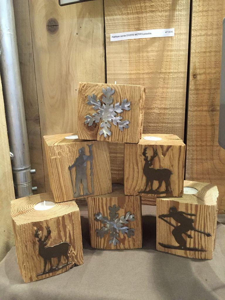 des photophores en vieux bois pour une d co montagne chaleureuse et pleine de lumi re. Black Bedroom Furniture Sets. Home Design Ideas