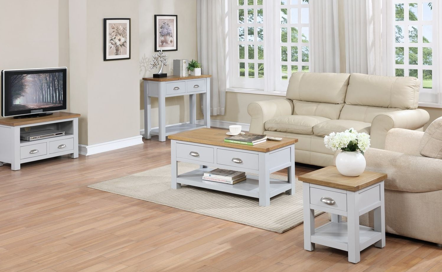 The Linden Grey And Oak Collection Living Room Coffee Table Coffee Table Living Room Collections