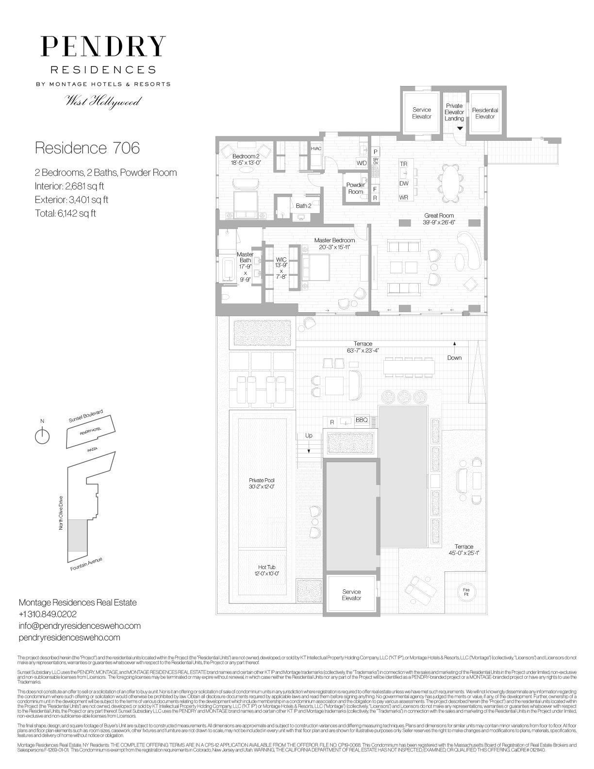 Pendry Residences West Hollywood Residence 706 In 2020 Floor Plans Apartment Floor Plan Single Story Homes