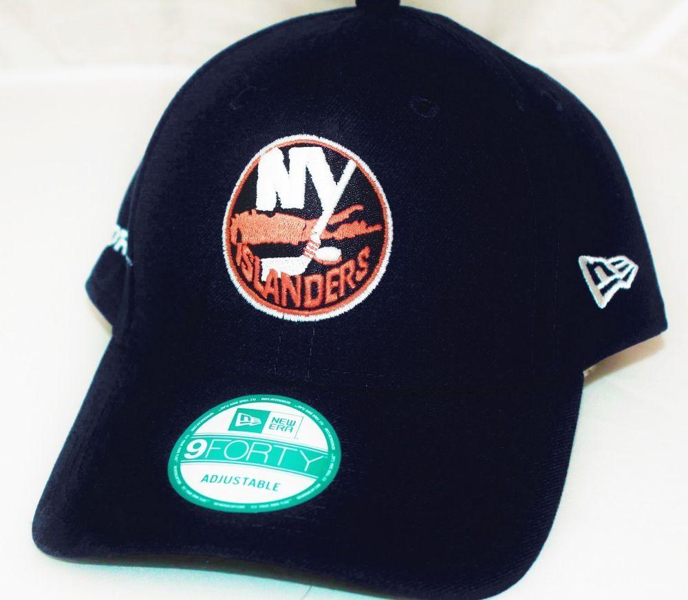 92eb6d8a9e8 New Era 9FORTY New York Islanders Flatbilled Baseball Cap Sports Hat Adult   isles  nhl