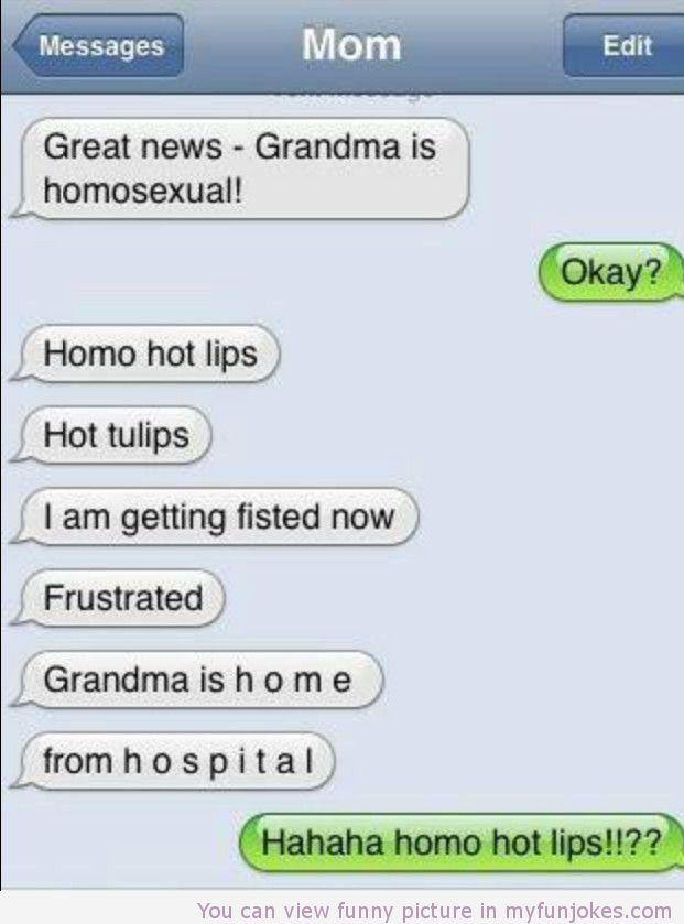 Great news grandma is homosexual