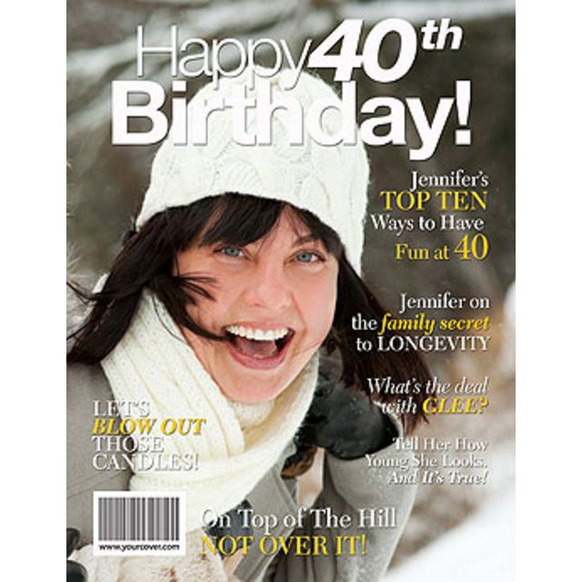 40th Birthday Personalized Magazine Cover 40th Birthday Gifts Personalized Birthday Gifts 40th Birthday