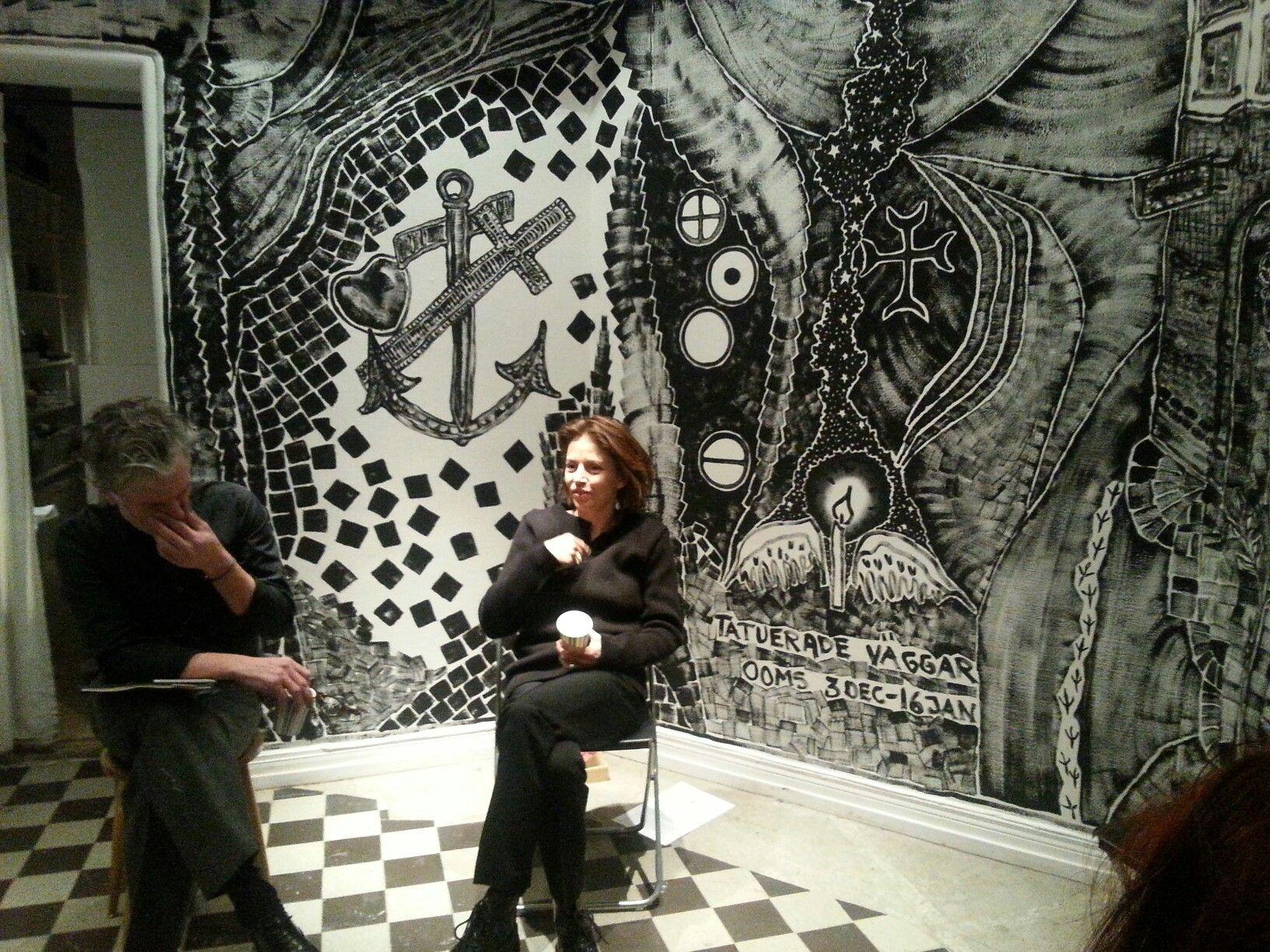 Amanda Ooms tatuerade väggar - amanda ooms inredningskonst