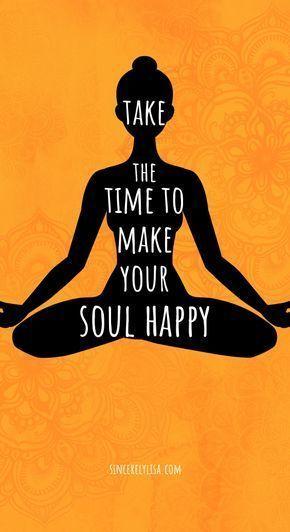 #YOGA Nehmen Sie sich Zeit, um Ihre Seele glücklich zu machen :) - #fitness #glücklich #Ihre #machen...