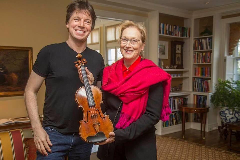 Joshua Bell and Meryl Streep