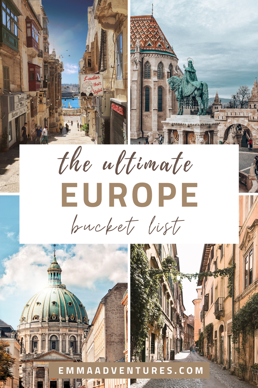 The ultimate Europe bucket list - places you have to see in Europe!