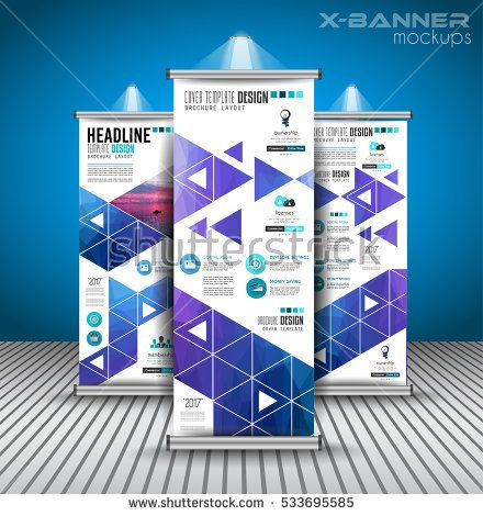 Set of Advertisement roll up business flyers or brochure banners - advertisement brochure