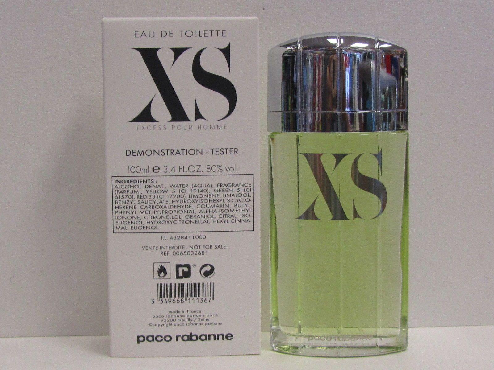 3490 Xs Excess Paco Rabanne Pour Homme Men 34 Oz Eau De Toilette