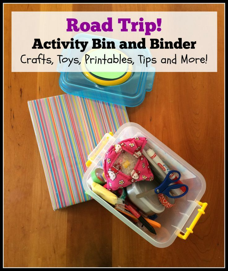 Road Trip Activity Bin And Binder (Crafts, Toys