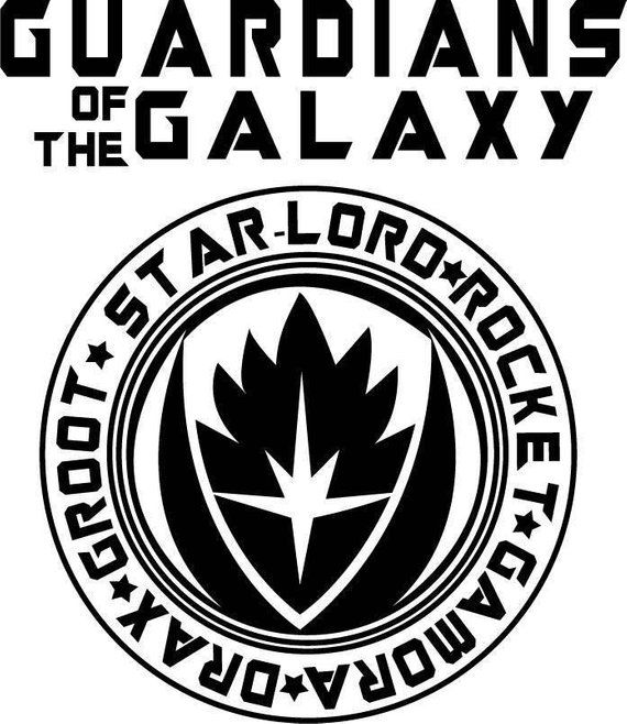 Guardians Of The Galaxy Design For Silhouette Studio Cut Files