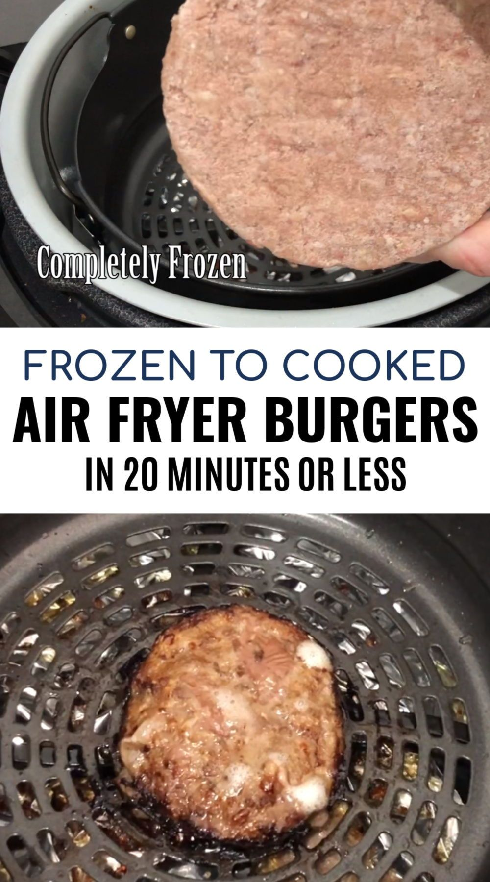 Air Fryer Burgers Recipe Food recipes, How to cook