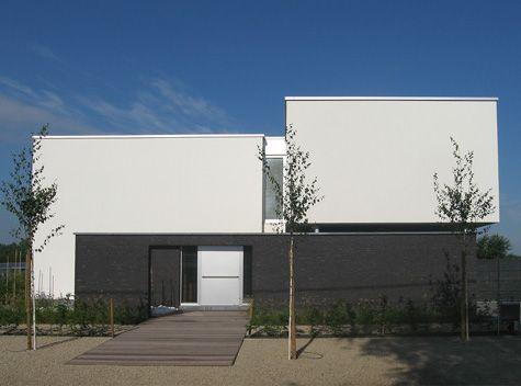 Zwarte gevelsteen lichtgrijze crepie portiekje house pinterest gevel huizen en gevels - Huis modern kubus ...