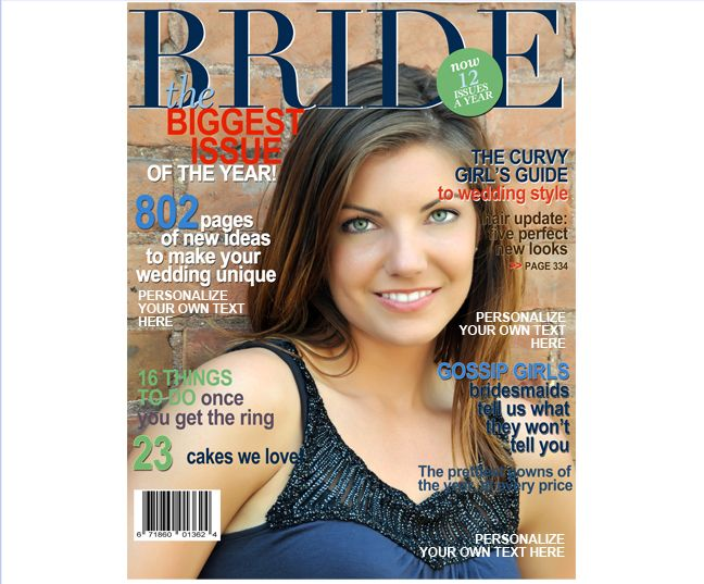 Magazine cover templates bride wedding magazine cover template magazine cover templates bride wedding magazine cover template create it yourself just insert photo of your choice solutioingenieria Image collections
