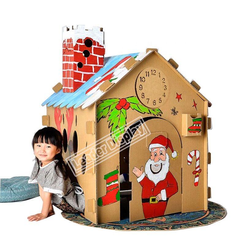 Unique Design Coloring Castle Train Paper Cardboard Playhouse For Kids Cardboard Furniture Design Cardboard Playhouse Cardboard House