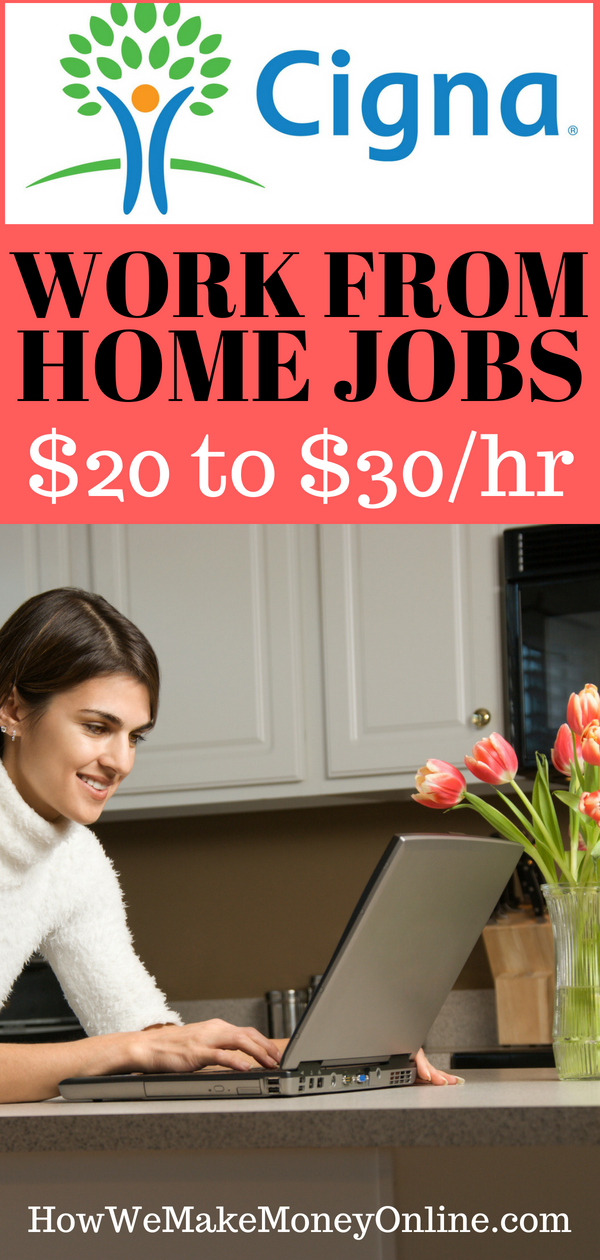 Best Work From Home Jobs Paying 20 An Hour Or More Cigna Is