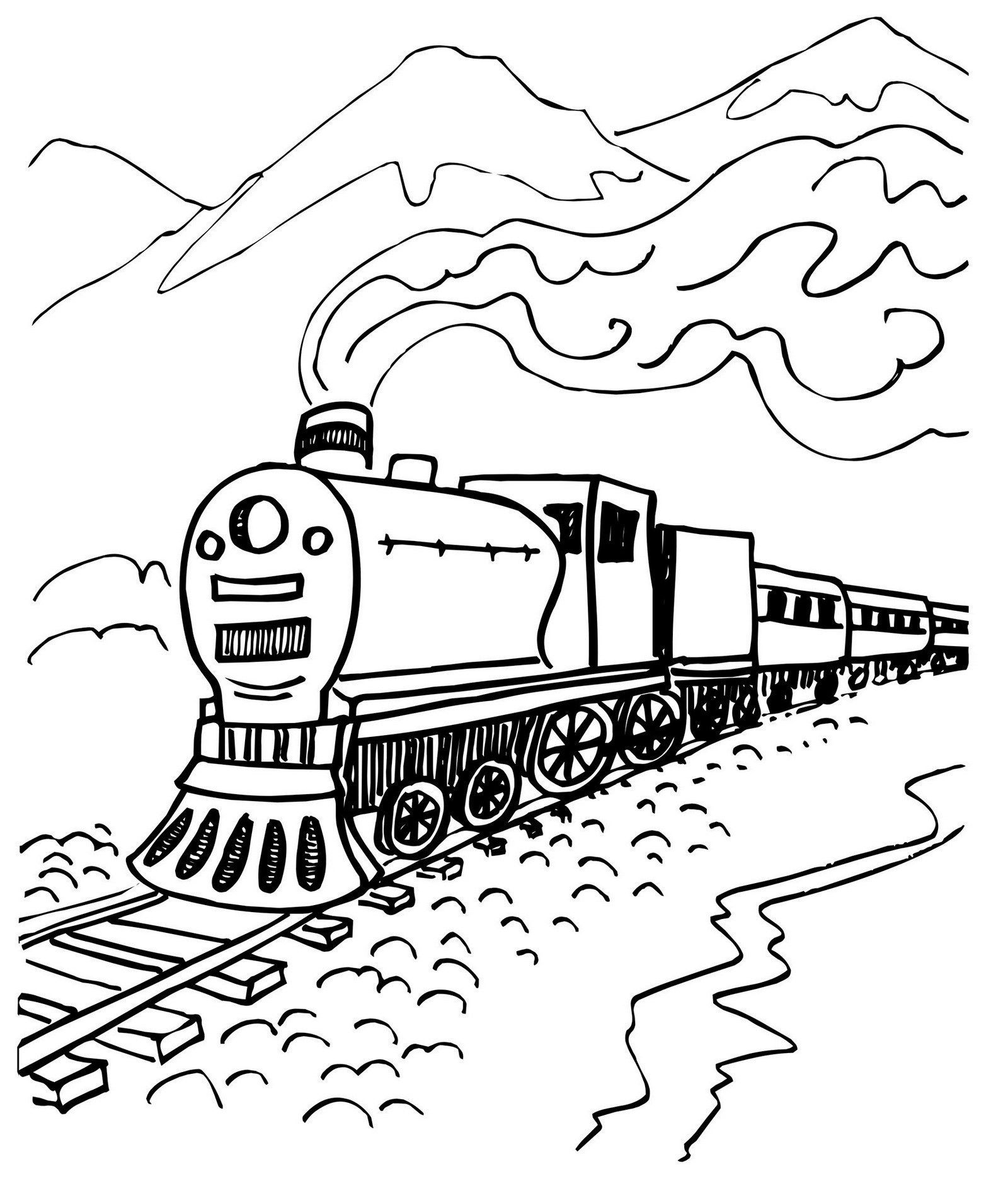 Caboose Coloring Page Coloring Pages Steam Train Coloring Page