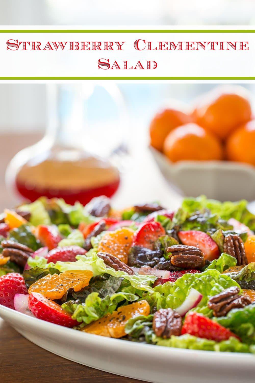 Strawberry Clementine Salad With Red Wine Vinegar Dressing Recipe In 2021 Salad Healthy Vinegar Dressing [ 1500 x 1000 Pixel ]