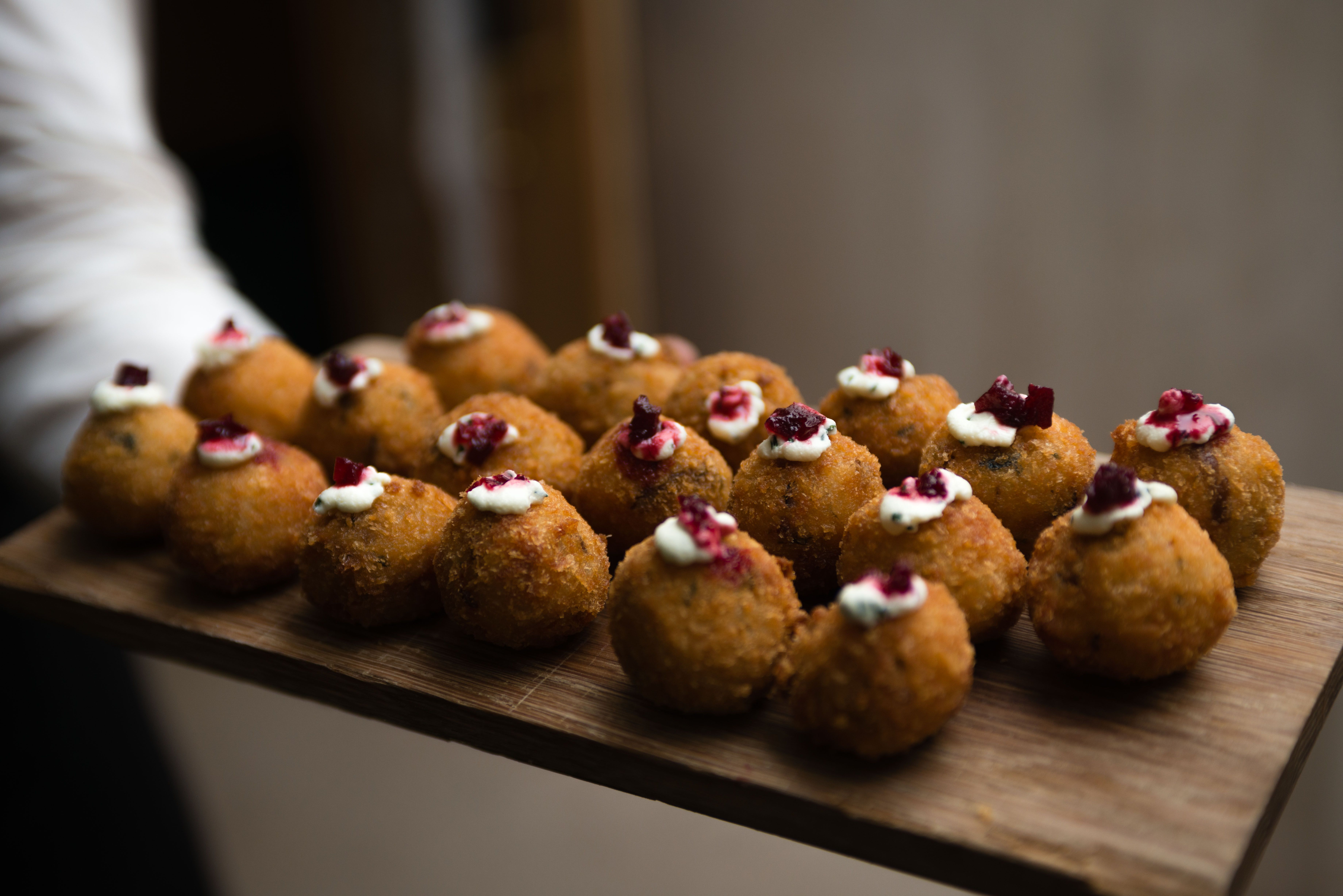 Risotto ball canapes food inspirations pinterest for Canape appetizer