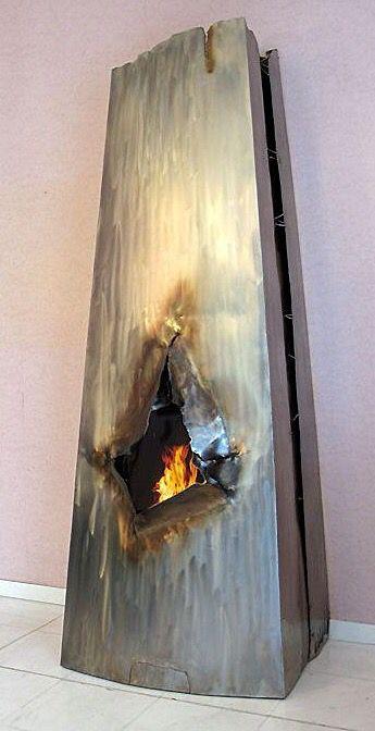 Gahr Design Steel Fireplace Mini Poele A Bois Bois De