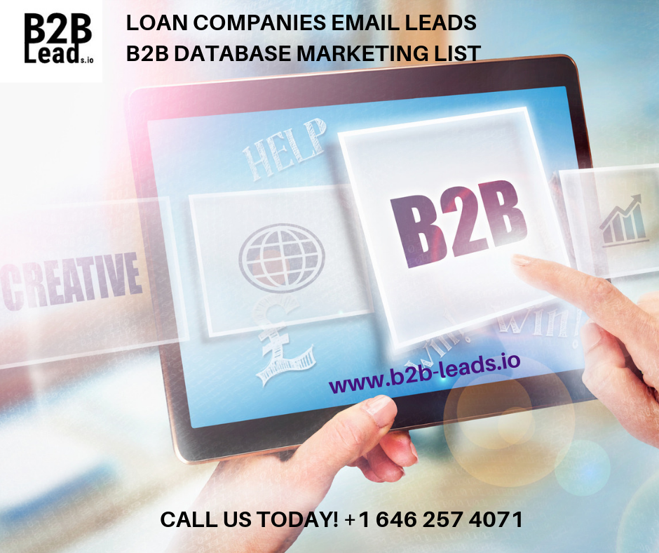 B2B Email Database Leads Provider | LOAN COMPANIES EMAILS LEADS B2B