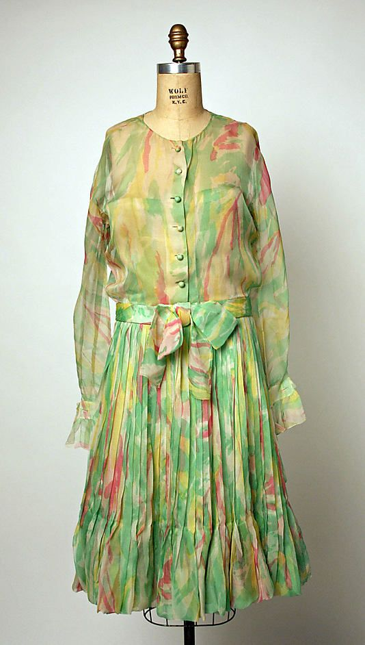 1965 House of Dior, Marc Bohan Designer Cocktail dress  Metropolitan Museum of Art, NY. See more museum collection dresses at www.vintagefashionandart.com.