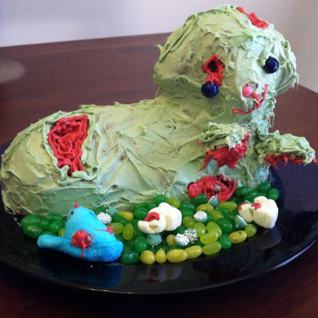 Zombie lamb cake for Easter. Fun :) this would be cool for a Walking ...