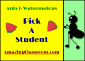 Student picker/chooser - Ants and Watermelon Picnic Koosh Ball product from WorkaholicNBCT on TeachersNotebook.com