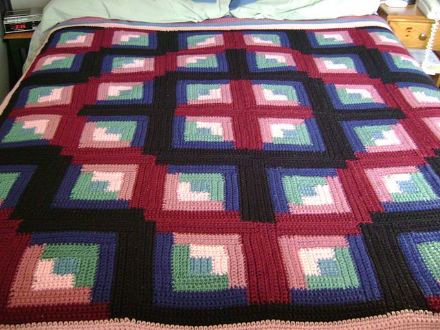 Ravelry: Project Gallery for Cozy Log Cabin pattern by Leisure Arts ...