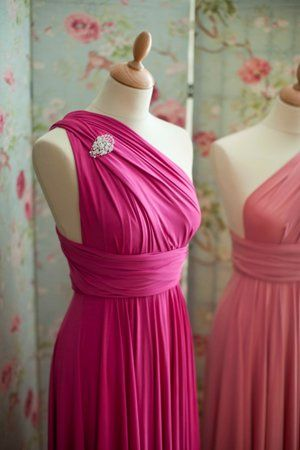 Bridesmaid Fuschia Pink Dress I Actually Like This Could Be A Possibility