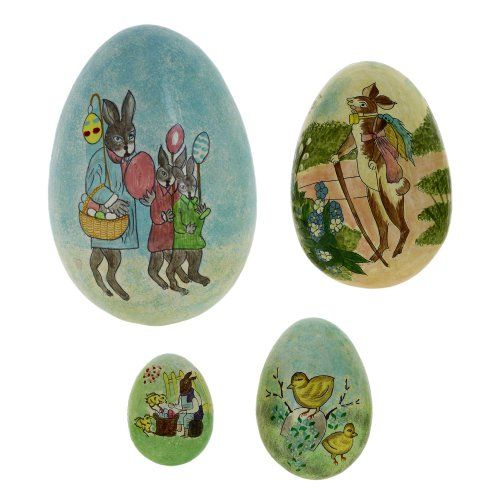 Set of handmade easter egg gift boxes includes 4 paper mache eggs set of handmade easter egg gift boxes includes 4 paper mache eggs easter decor negle Choice Image