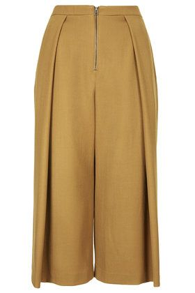 **Pleated Front Culotte Trousers by Unique