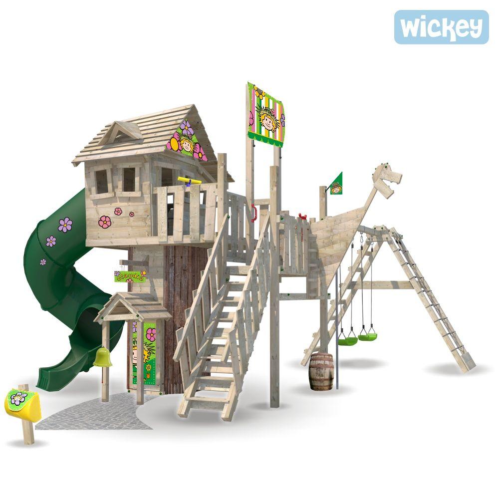 Baumhaus Wickey NeverLand mit Turborutsche | Baumhaus, Spielturm ...