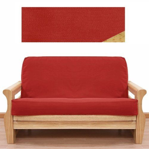 Solid Red Futon Cover Queen 410 By Slipcovershop 59 00 Made In Usa In Stock Ships Within 2 Days See Sizing And Product Des Red Futon Futon Covers Futon