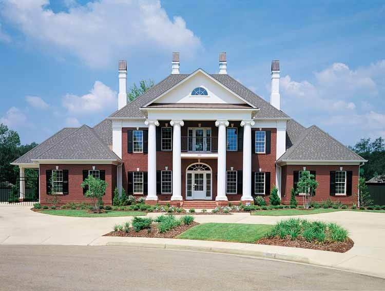 Classical Style House Plan 4 Beds 4 Baths 4242 Sq Ft Plan 45 413 Colonial House Plans Southern House Plans Colonial House