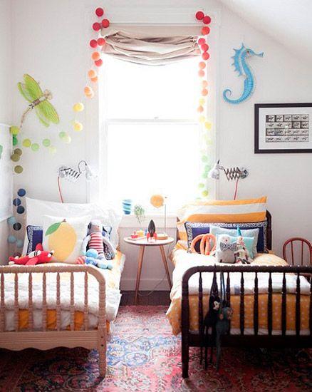 Ideas para decorar habitaciones mixta muebles y - Habitaciones bebe pequenas ...