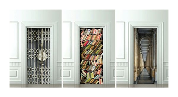 Trompe Loeil Door Decals I Dont Need The Book Closet Decal That