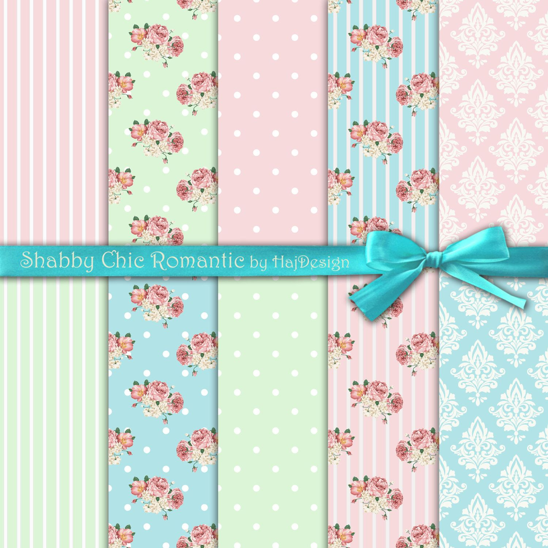 Scrapbook paper download - Shabby Chic Romantic Instant Download Digital Paper Shabby Chic Paper Scrapbook Paper