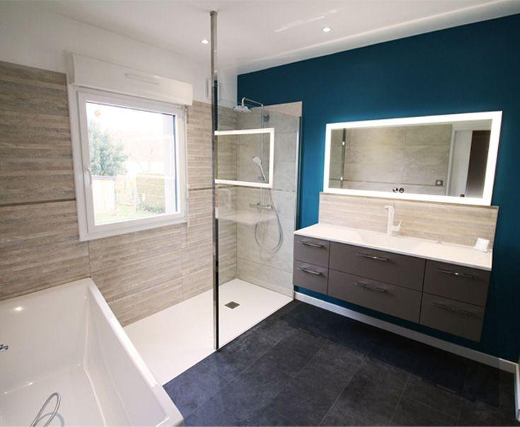 Rénovation du0027une salle de bain à Saint Avé - Bains Douches \ Co - salle de bain design douche italienne