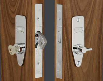 the easy turn lever makes locking and unlocking the front door from ...