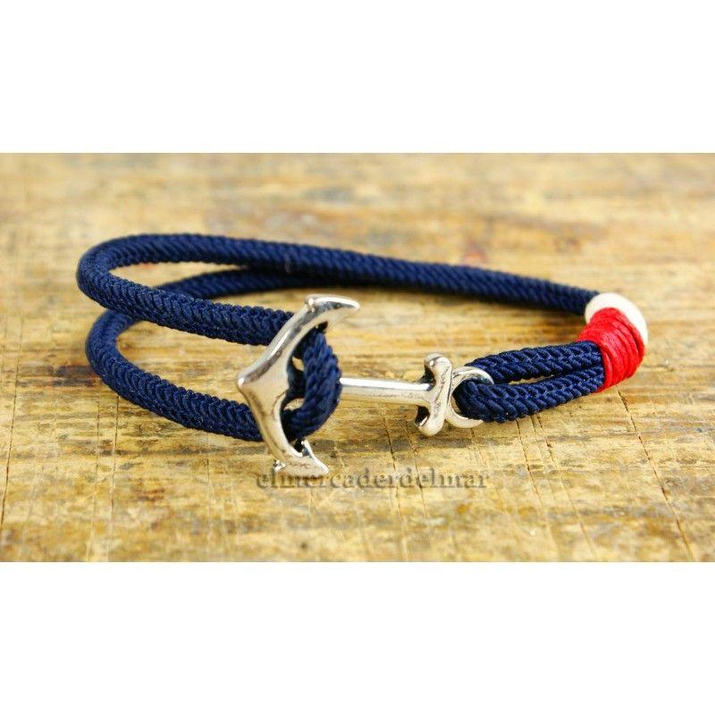 04e1e307e213 Pulsera marinera azul marino con ancla