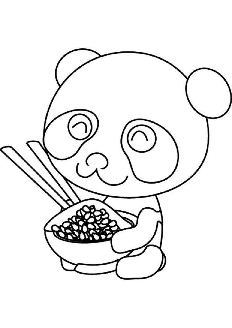 Cute Baby Panda Coloring Pages Cartoon Panda Coloring