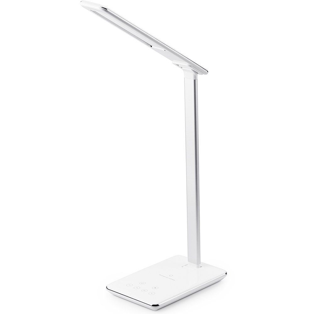 Eye Protection Led Desk Lamp Folding Table Lamp Wireless Desktop Charger Book Light With Usb Output Bottom Touch Night Light Sma With Images Led Desk Lamp Lamp Desk Lamp