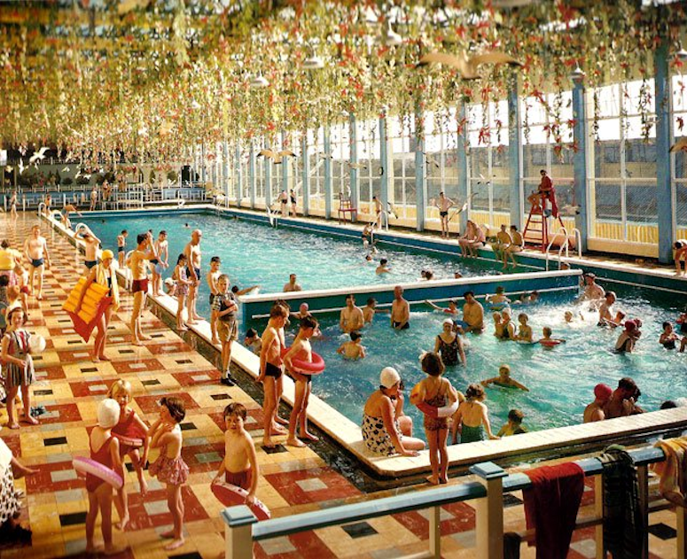 The Heated Indoor Pool At Butlinu0027s Mosney Holiday Camp In 1963.